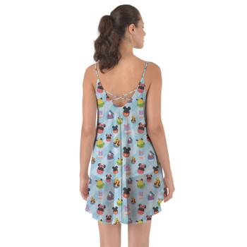 Beach Cover Up Dress - Mickey & Friends Easter Eggs
