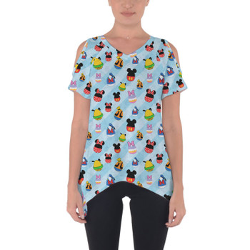 Cold Shoulder Tunic Top - Mickey & Friends Easter Eggs