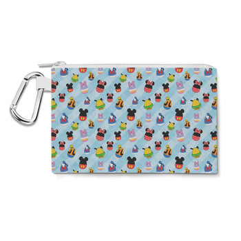 Canvas Zip Pouch - Mickey & Friends Easter Eggs