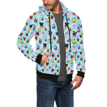 Men's Zip Up Hoodie - Mickey & Friends Easter Eggs
