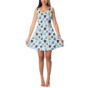 Sleeveless Flared Dress - Mickey & Friends Easter Eggs
