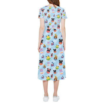 High Low Midi Dress - Mickey & Friends Easter Eggs
