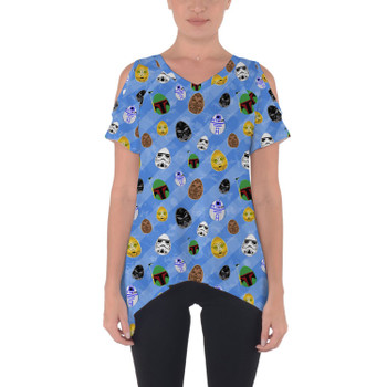 Cold Shoulder Tunic Top - Star Wars Easter Eggs