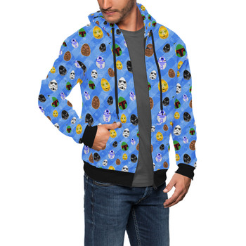 Men's Zip Up Hoodie - Star Wars Easter Eggs
