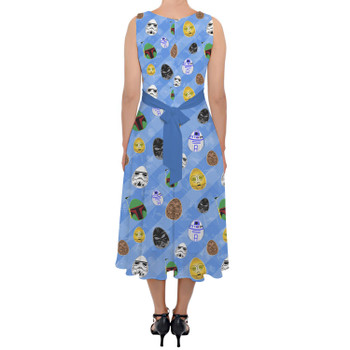 Belted Chiffon Midi Dress - Star Wars Easter Eggs