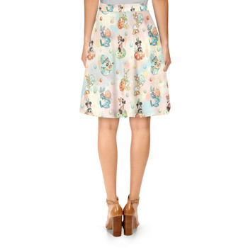 A-Line Skirt - Mickey's Easter Celebration