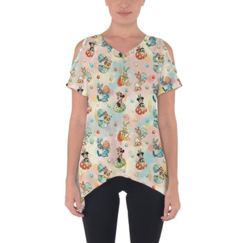 Cold Shoulder Tunic Top - Mickey's Easter Celebration