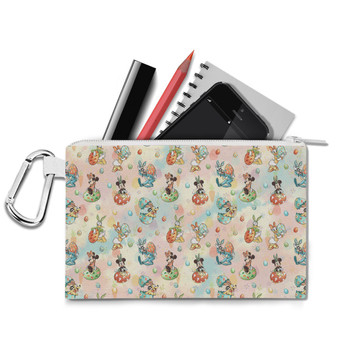 Canvas Zip Pouch - Mickey's Easter Celebration