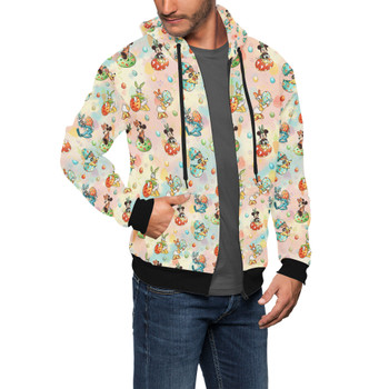 Men's Zip Up Hoodie - Mickey's Easter Celebration