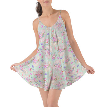 Beach Cover Up Dress - Mouse Ears Easter Bunny