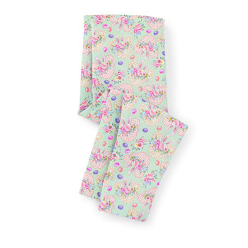 Girls' Capri Leggings - Mouse Ears Easter Bunny