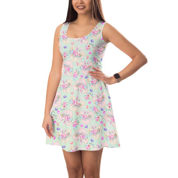 Sleeveless Flared Dress - Mouse Ears Easter Bunny