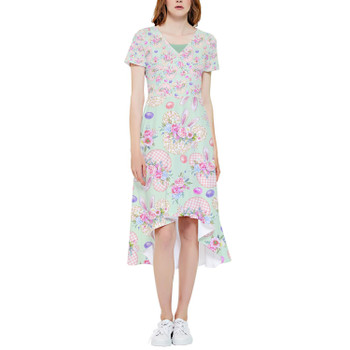 High Low Midi Dress - Mouse Ears Easter Bunny