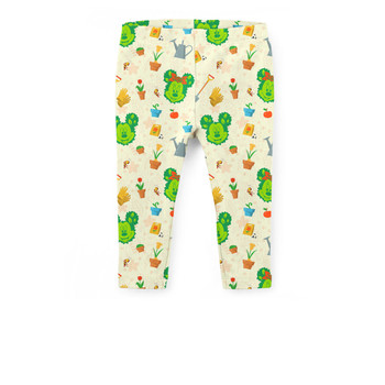 Girls' Capri Leggings - Flower & Garden Festival