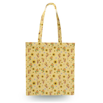 Canvas Tote Bag - Spike The Bee and Orange Bird