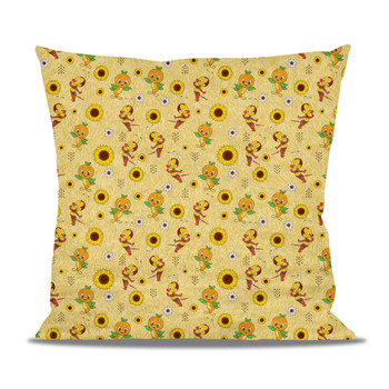 Fleece Cushion - Spike The Bee and Orange Bird