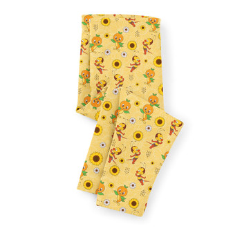 Girls' Capri Leggings - Spike The Bee and Orange Bird
