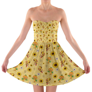 Sweetheart Strapless Skater Dress - Spike The Bee and Orange Bird