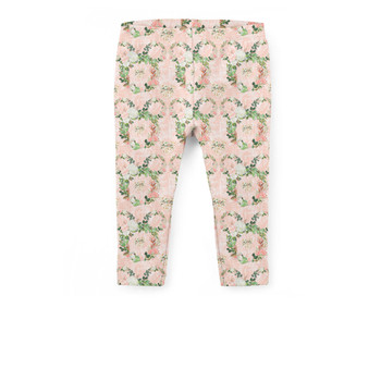 Girls' Capri Leggings - Floral Minnie Wreaths