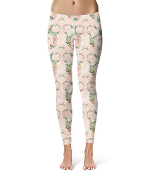 Sport Leggings - Floral Minnie Wreaths