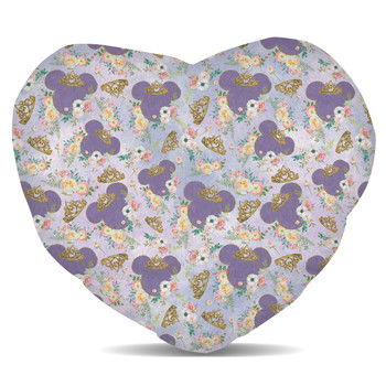 Fleece Cushion - Minnie Floral Princess
