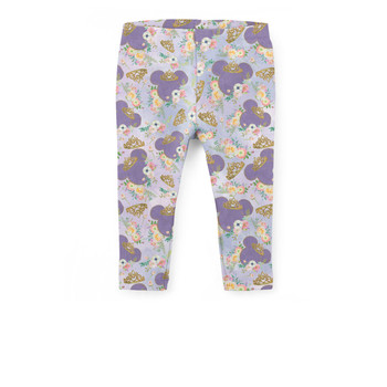 Girls' Capri Leggings - Minnie Floral Princess