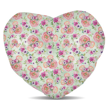 Fleece Cushion - Peachy Floral Minnie Ears