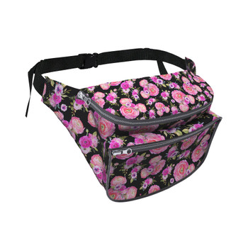 Fanny Pack - Fuchsia Pink Floral Minnie Ears