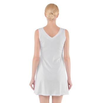 V-Neck Sleeveless Flared Dress