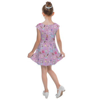 Girls Cap Sleeve Pleated Dress - Disney Fashionista