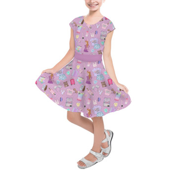 Girls Short Sleeve Skater Dress - Disney Fashionista
