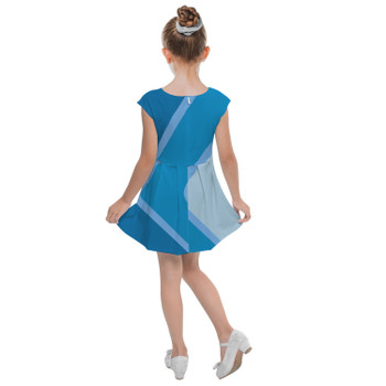 Girls Cap Sleeve Pleated Dress - The Blueberry Wall