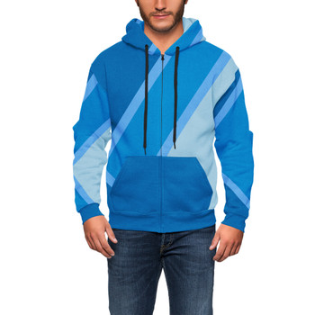 Men's Zip Up Hoodie - The Blueberry Wall