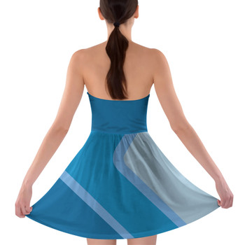 Sweetheart Strapless Skater Dress - The Blueberry Wall
