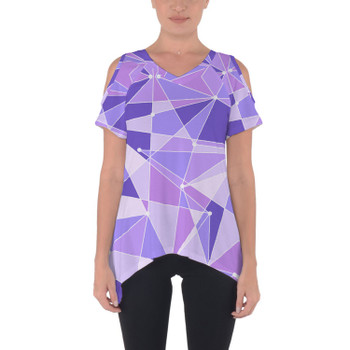 Cold Shoulder Tunic Top - The Purple Wall