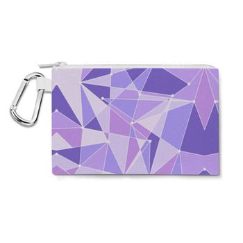 Canvas Zip Pouch - The Purple Wall