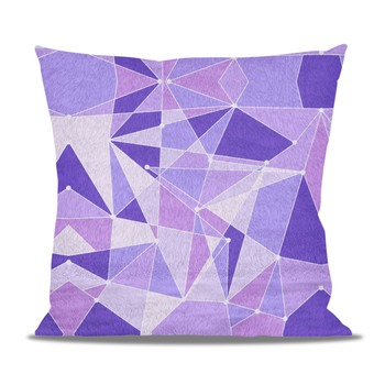 Fleece Cushion - The Purple Wall