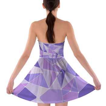 Sweetheart Strapless Skater Dress - The Purple Wall