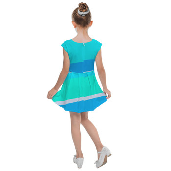 Girls Cap Sleeve Pleated Dress - The Toothpaste Wall