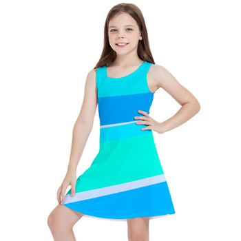 Girls Sleeveless Dress - The Toothpaste Wall