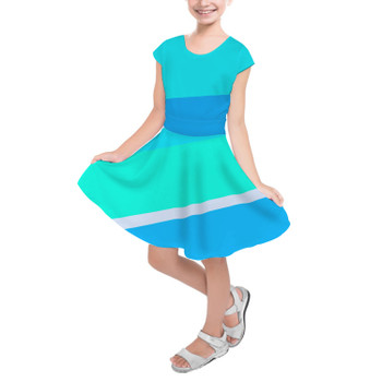 Girls Short Sleeve Skater Dress - The Toothpaste Wall