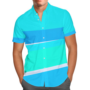 Men's Button Down Short Sleeve Shirt - The Toothpaste Wall