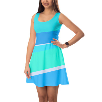 Sleeveless Flared Dress - The Toothpaste Wall
