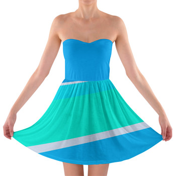 Sweetheart Strapless Skater Dress - The Toothpaste Wall