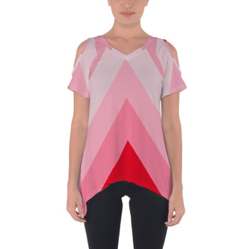Cold Shoulder Tunic Top - The Candy Cane Wall