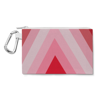 Canvas Zip Pouch - The Candy Cane Wall