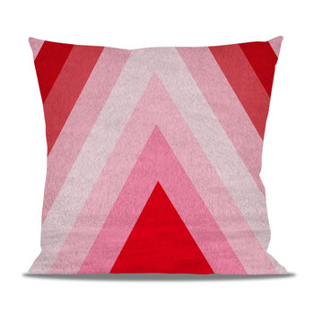 Fleece Cushion - The Candy Cane Wall