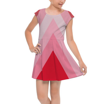 Girls Cap Sleeve Pleated Dress - The Candy Cane Wall
