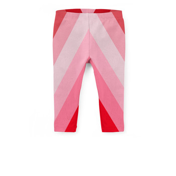 Girls' Capri Leggings - The Candy Cane Wall