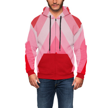 Men's Zip Up Hoodie - The Candy Cane Wall